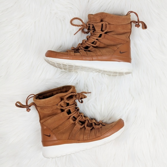 1d61947ac40c Nike Roshe One Hi Suede in Tawny Lotus Shoes. M 5bf3b7f42e1478743be3b300